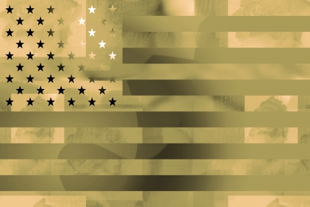 styled: American flag military styled background