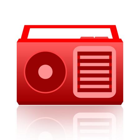 Radio isolated on white background photo