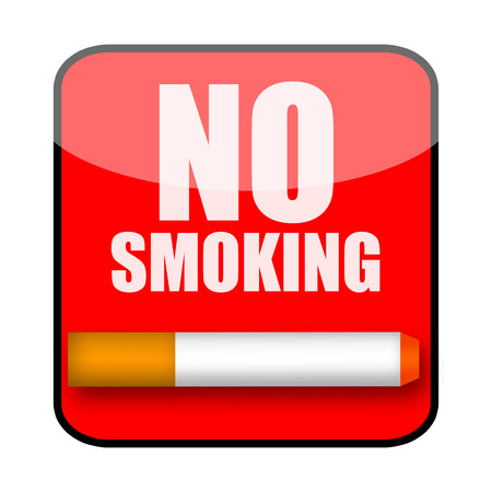 carcinogen: No smoking sign isolated over white background