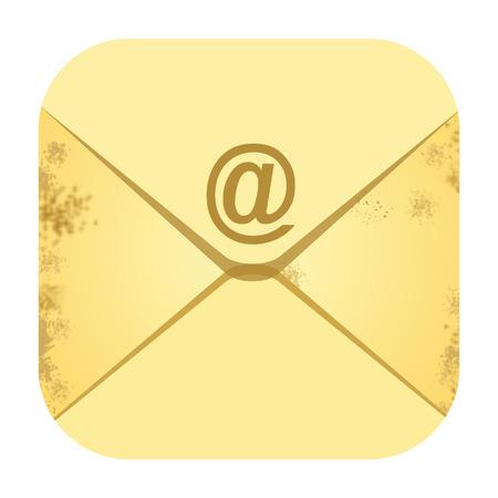 Email envelope icon isolated on white background photo