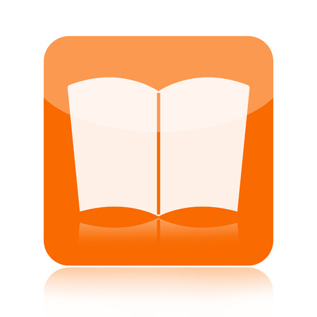 catalogue: Book icon isolated on white background