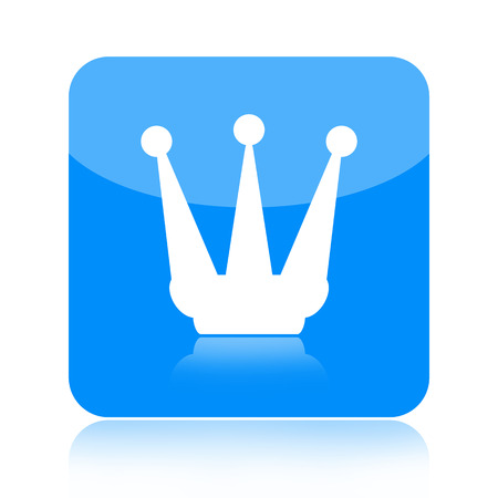 Crown icon isolated on white background photo