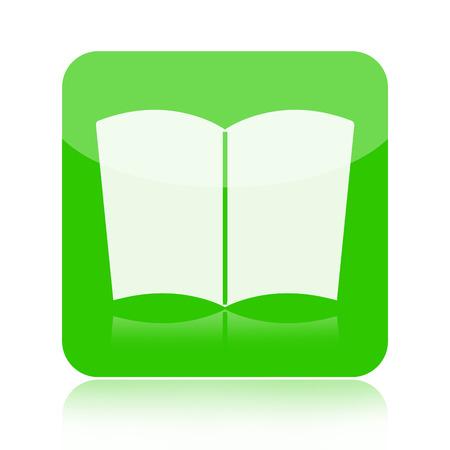 glossary: Book icon Stock Photo