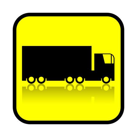 haulage: Trick sign isolated on white background