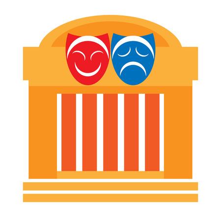 Teatro y máscaras de teatro