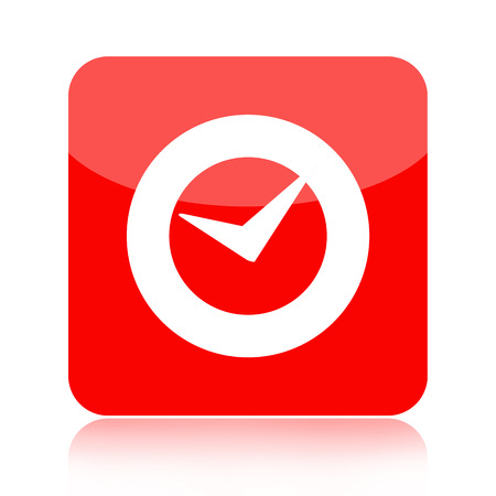 uhr icon: Checkmark oder Uhr-Symbol