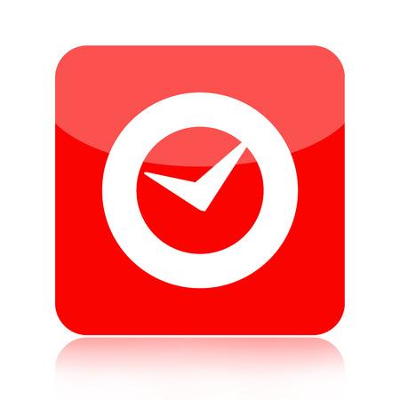 Checkmark or clock icon photo