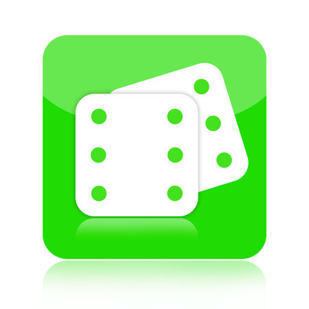 double the chances: Dice icon isolated on white background