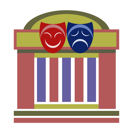 comedy and tragedy masks: Drama theater, comedy and tragedy theatrical masks