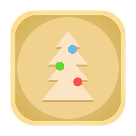 xmass: Christmas tree icon isolated on white background Stock Photo