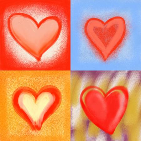 Hearts, romantic love design