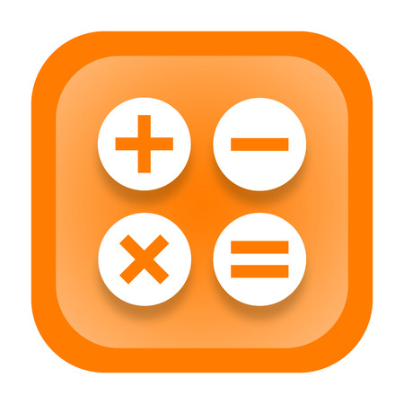 accountancy: Calculator icon isolated on white background Stock Photo
