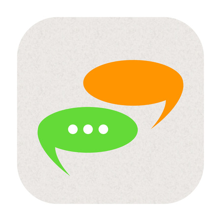 communicative: Messages, speech bubbles icon isolated on white background