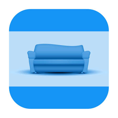 Sofa, furniture icon isolated on white background