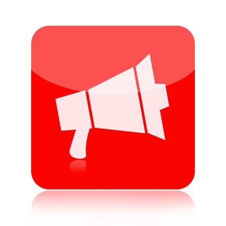 public folder: Megaphone icon isolated on white background