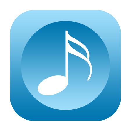 Music icon isolated on white background Stock Photo