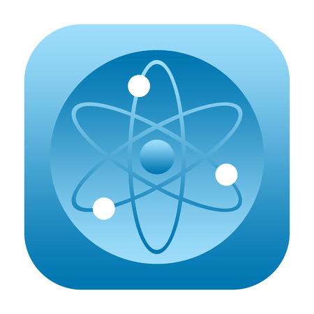 photon: Atom icon isolated on white background