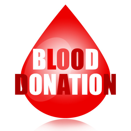 transfuse: Blood donation concept with blood drop and letters isolated on white background