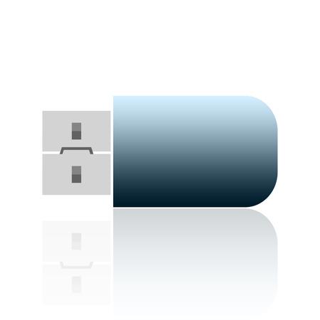 flashdisk: Usb flash drive isolated on white background
