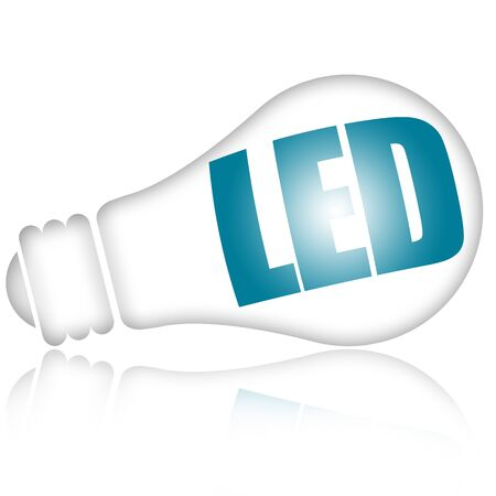 led lighting: Led light bulb isolated on white background Stock Photo