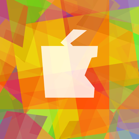 Apple in cubism Stock Photo