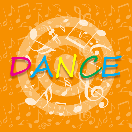 Dance background with musical notes