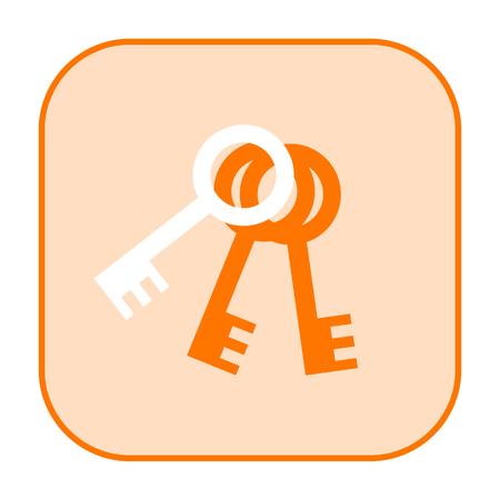 keylock: Keys icon isolated on white background