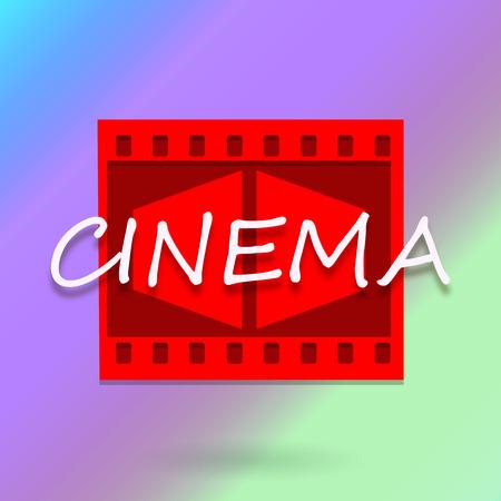 Cinema background with inscription