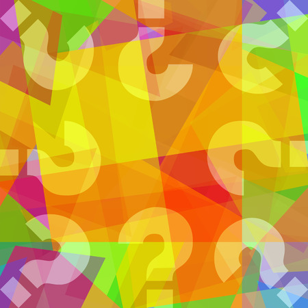 Question marks oncolorful abstract art background