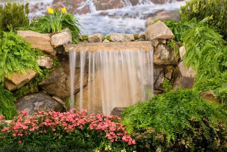 Garden waterfall Stock Photo - 903759