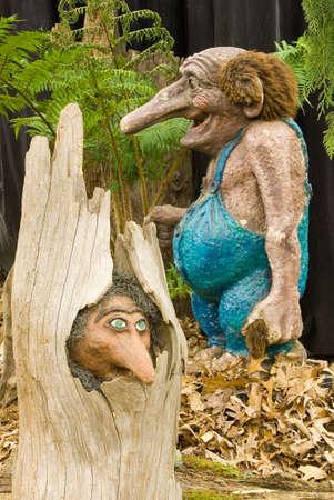 gnomos: Jard�n trolls  Foto de archivo
