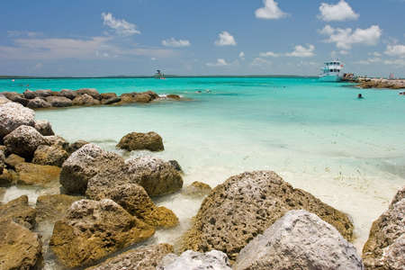 caribbean climate: Coco Cay in the Bahamas on a sunny day