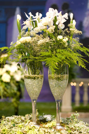Champagne and flowers Stock Photo - 961019