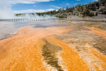 prismatic: Grand Prismatic Spring at Yellowstone National Park Archivio Fotografico