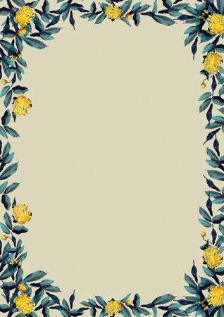 yellow rose Flower Frame Banque d'images - 130796801