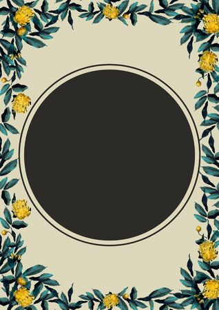 yellow rose Flower Frame Banque d'images - 130796843