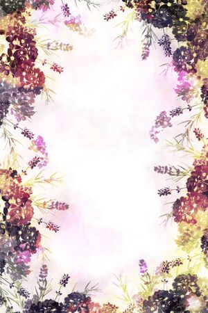 Botanical Image Pink Beautiful Flower Collage Composite Background Graphics