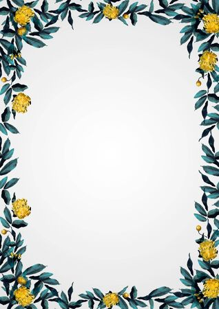 yellow rose Flower Frame Banque d'images - 130806063