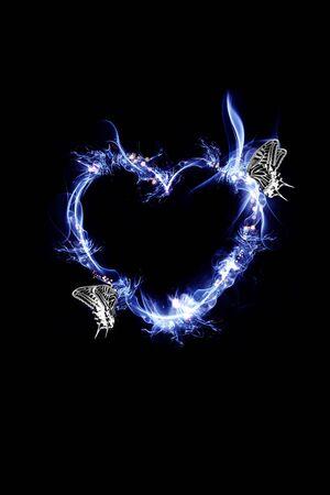 Heart Mark Frame Banque d'images - 130806192