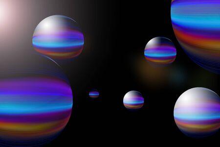 Colorful sphere graphics Фото со стока