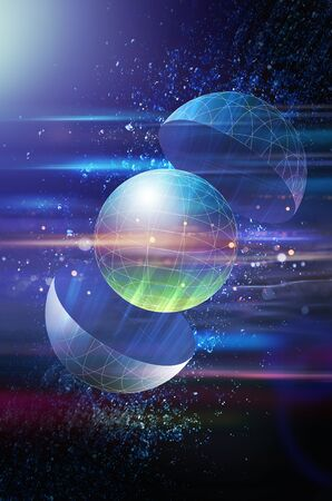Wireframe Earth CG Graphics Standard-Bild