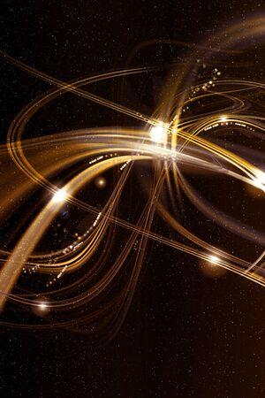 Golden artistic star background graphics 写真素材
