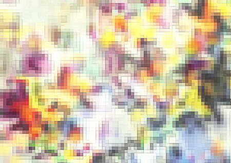 Cool graphics with pixelated mosaic pattern