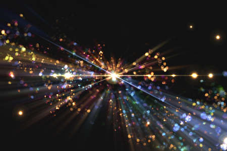 Abstract background of light particles and synchrotron radiation