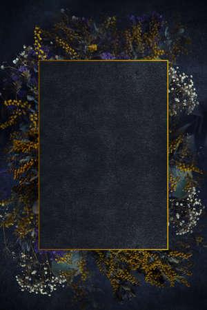 Dry Flower Design Frame