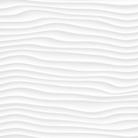 smooth background: White texture. abstract pattern seamless. wave wavy nature geometric modern. on white background for interior wall 3d design. vector illustration