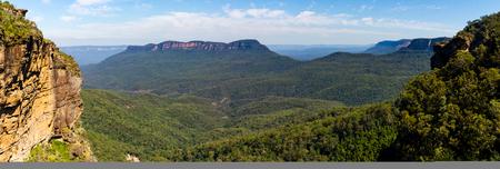 blue mountains: Blue Mountains Panorama Stock Photo