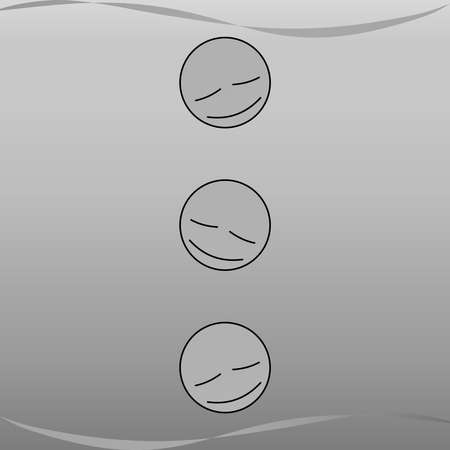 Relax emotional face in grayscale with wind 03