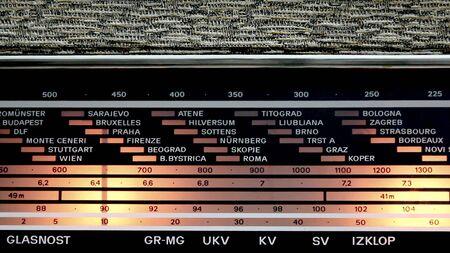 vintage Oost-Europese radio-tuning