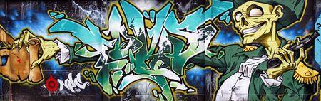 serbia: graffiti art in novi sad serbia 9 Stock Photo